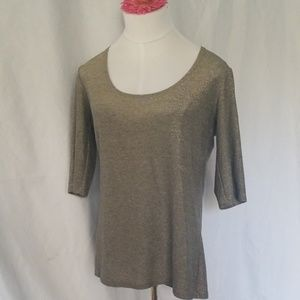 Only Hearts gold metallic top
